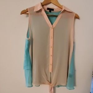 Pearl Sleeveless Sheer Blouse